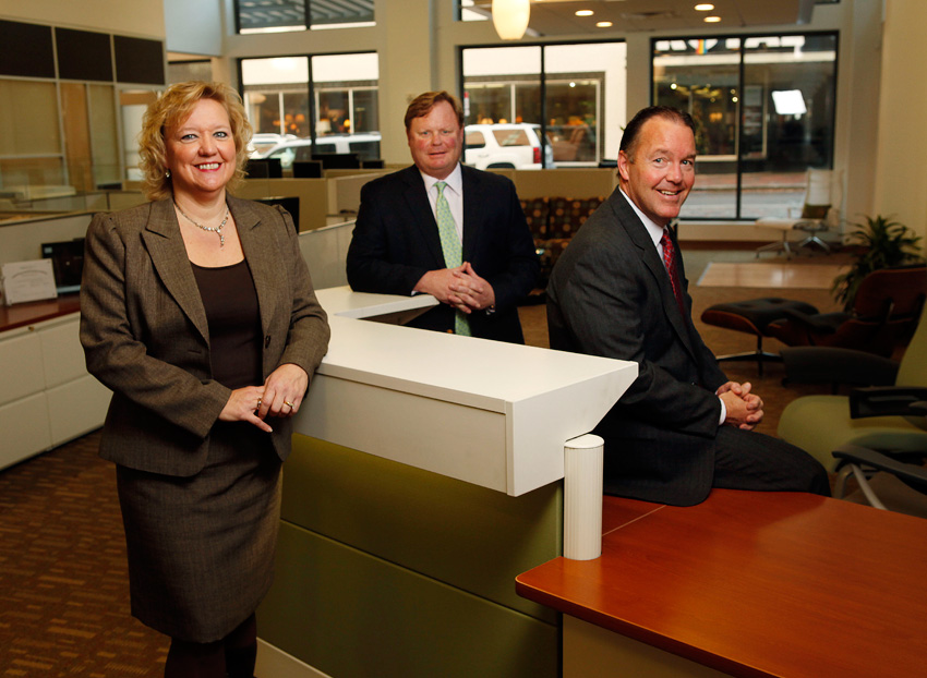 APG Office Furnishings, Which Is A Certified Herman Miller Dealer, Has  Opened A New Location At 100 S. Main Downtown. Pictured From Left Are  Connie Goins, ...