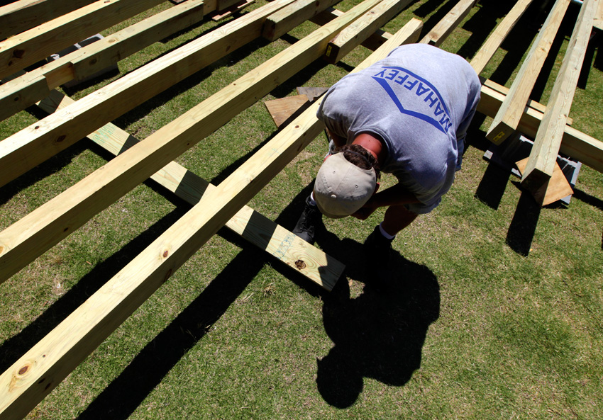Daniel Wolfle from Mahaffey Tent u0026 Party Rentals prepares the foundation for a 100-foot x 150-foot clearspan structure for the University of Memphis ... & Mahaffey Tent has Local Events Businesses Covered - Memphis Daily ...