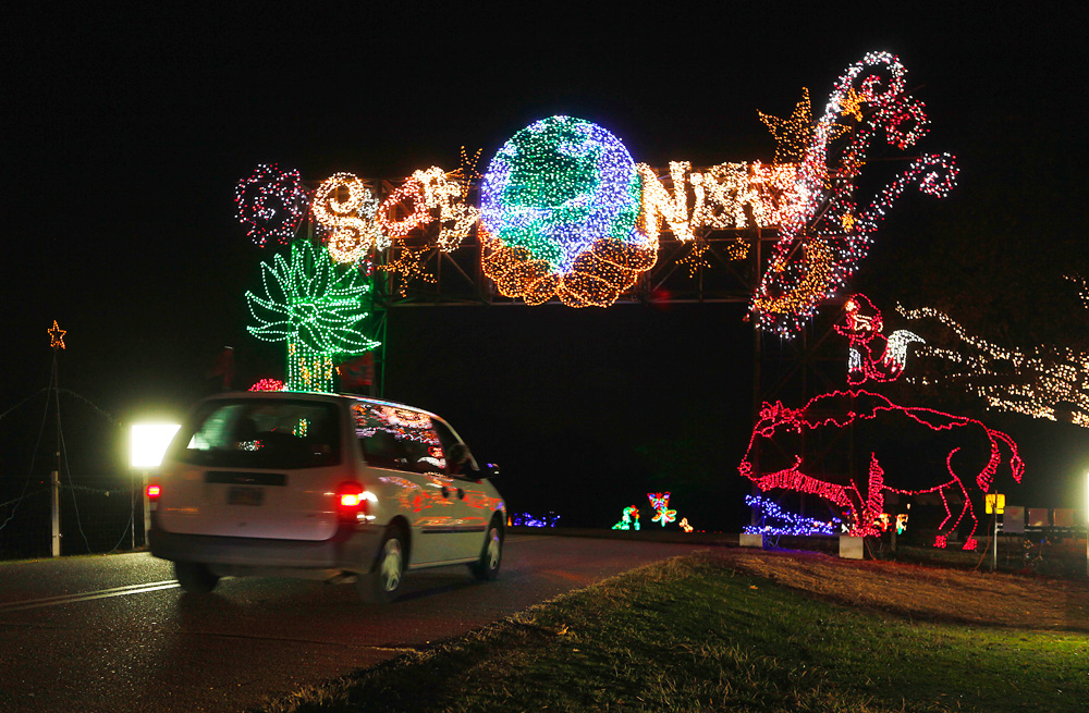 Visitors drive through Starry Nights at Shelby Farms Park, which features  more than 2.5 million lights. The exhibit runs through December and is  closed ... - Bright Starry Nights - Memphis Daily News