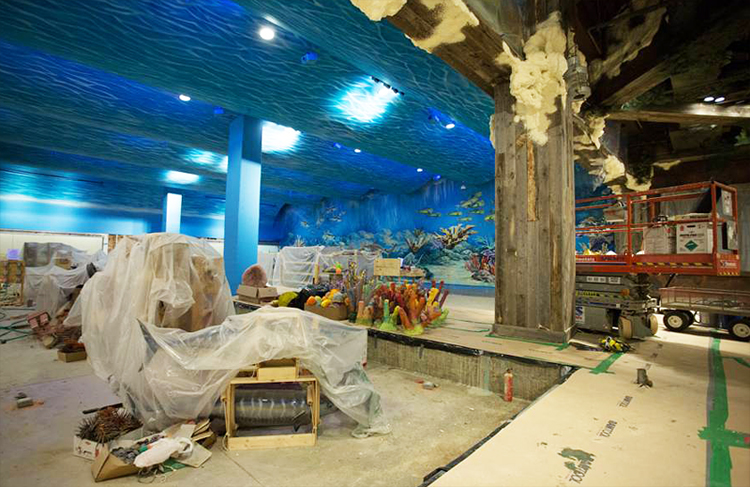 The interior of a room at the big cypress lodge inside the pyramid - Bass Pro Shops Sets Pyramid Opening For May 1 Memphis