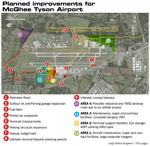 Tys Airport Map Will McGhee Tyson Expansion Lure Southwest?   Memphis Daily News