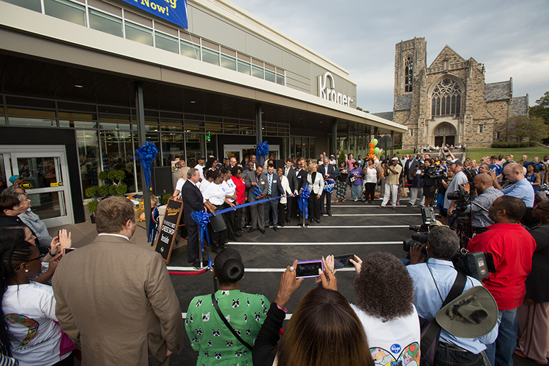 Midtown Kroger Opens With Pedestrian Focus on Busy Union Avenue