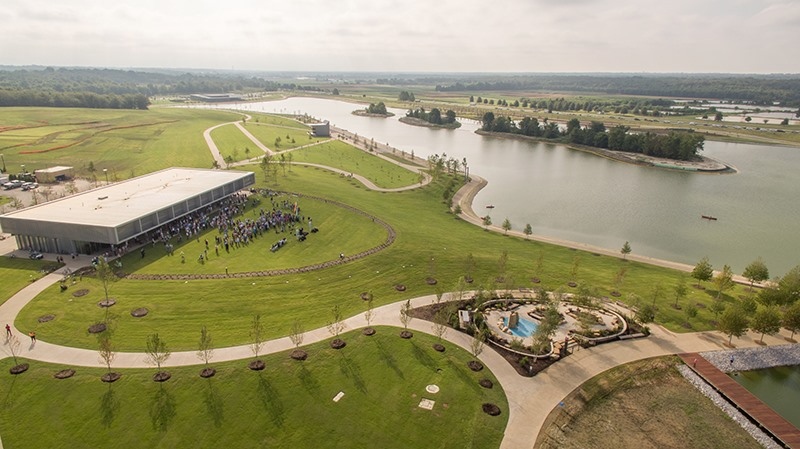 the expanded lake and new amenities make shelby farms park a must see for out of town visitors to memphis but locals are beginning to find their stride - The Kitchen Shelby Farms