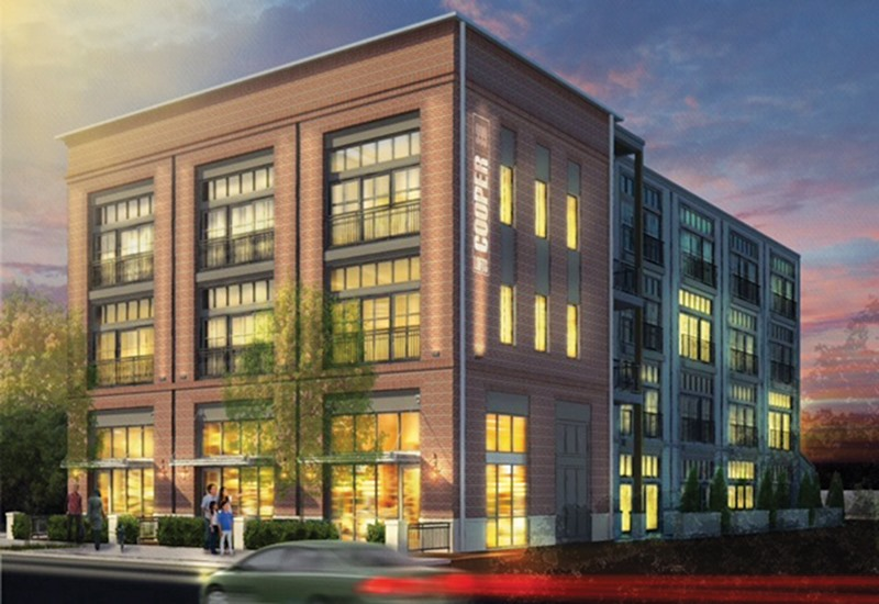 Rendering Of Focal Point S 25 Unit Two Building Apartment Development On Cooper Street Investments Llc