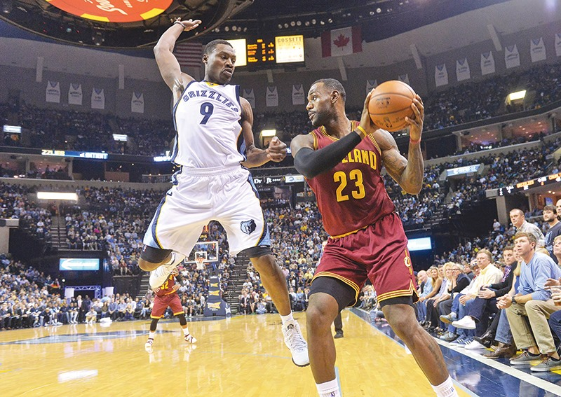 9c8ff9fb1ea Memphis Grizzlies guard Tony Allen (9) leaps to swing at the ball against  Cleveland Cavaliers forward LeBron James (23) in the first half of a 2015  game in ...