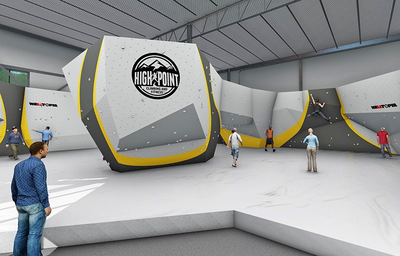 Chattanooga Based High Point Climbing And Fitness Is Expanding Into Memphis With A 32000 Square Foot Gym Under Construction On Humphreys Boulevard Near