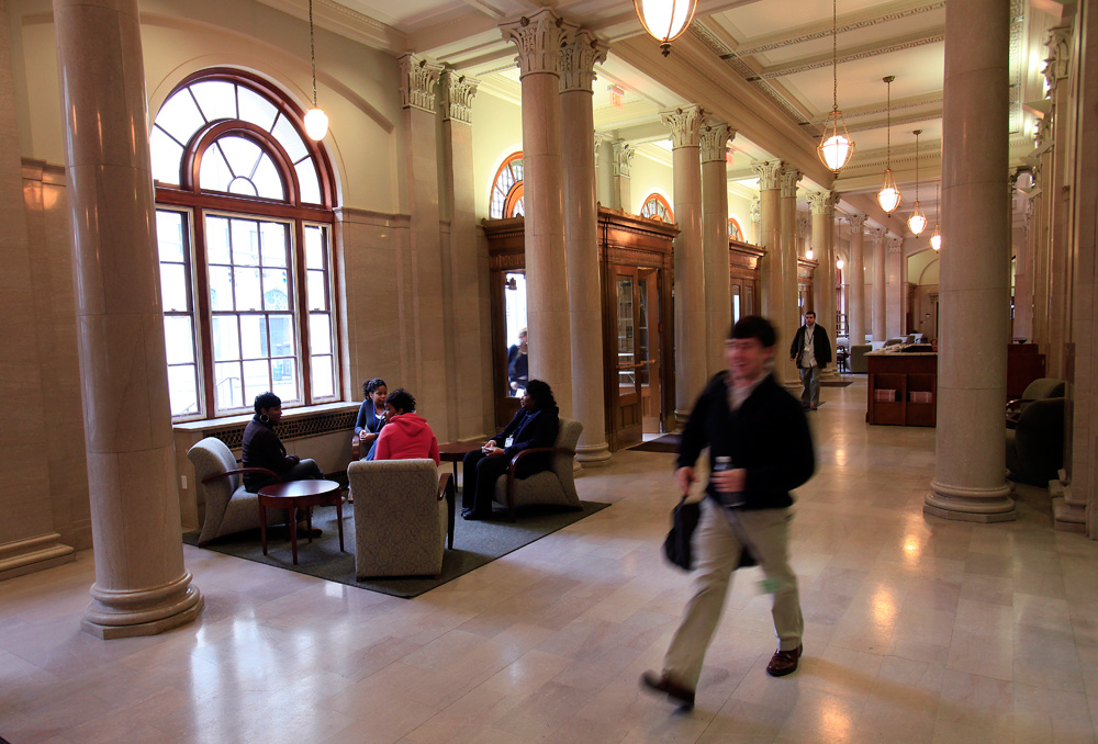 Students Pass Through The Lobby Of University Memphis Cecil C Humphreys School Law Which Was Originally Built As A US Customs House In
